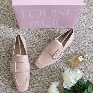 NEW Louise et Cie Espen Nude Patent Leather Loafer